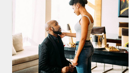 celebrities react banky ws engagement to adesua etomi