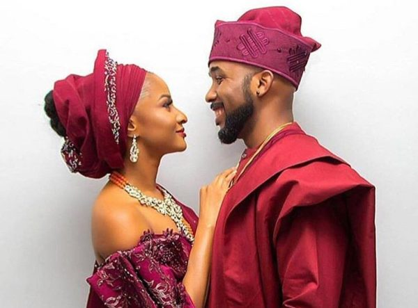 Pictures of Banky W, Adesua Etomi's traditional wedding held in Lagos